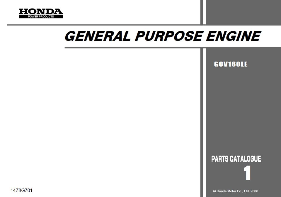 Manual motor Honda